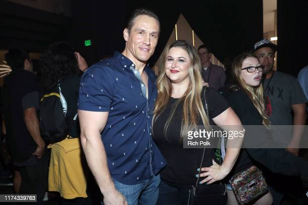 Andrey Ivchenko and guest attend Halloween Horror Nights at Universal Studios Hollywood on September 12 2019 in Universal City California