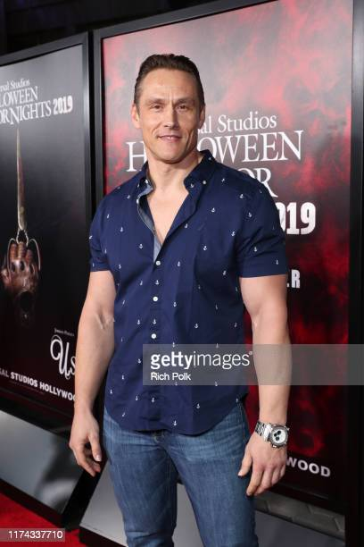 Andrey Ivchenko attends Halloween Horror Nights at Universal Studios Hollywood on September 12 2019 in Universal City California