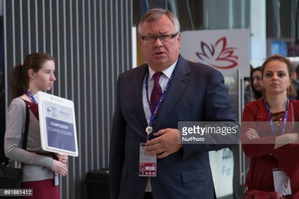 Andrey Kostin President VTB Bank attends the St Petersburg International Economic Forum Russia June 2 2017