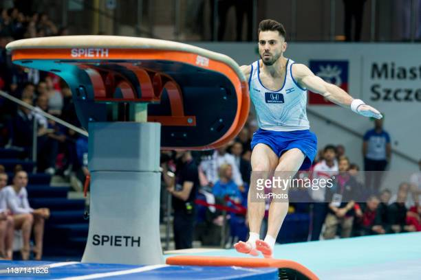 Andrey Medvedev during the European Women's and Men's Artistic Gymnastics Championships in Szczecin Poland on April 14 2019