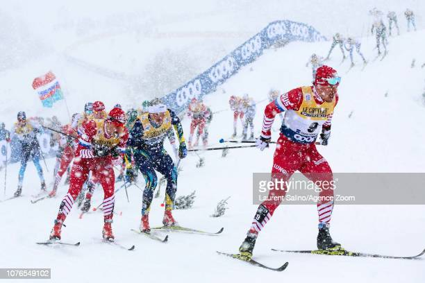 Andrey Melnichenko of Russia competes during the FIS Nordic World Cup Men's and Women's Cross Country Classic Mass Start on January 2 2019 in...