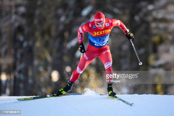 Andrey Melnichenko of Russia in action competes during the Women's and Men's Qualification at the FIS CrossCountry World Cup Lenzerheide at on...
