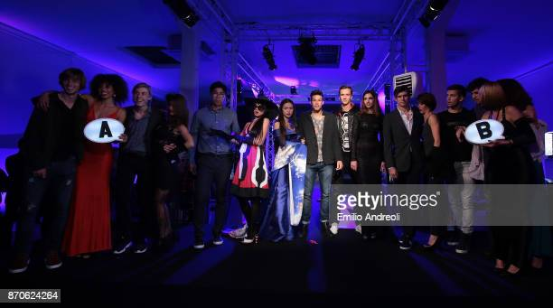 Andrey Rublev Denis Shapovalov Hyeon Chung Gianluigi Quinzi Daniil Medvedev Jared Donaldson Borna Coric and Karen Khachanov pose during the Next Gen...