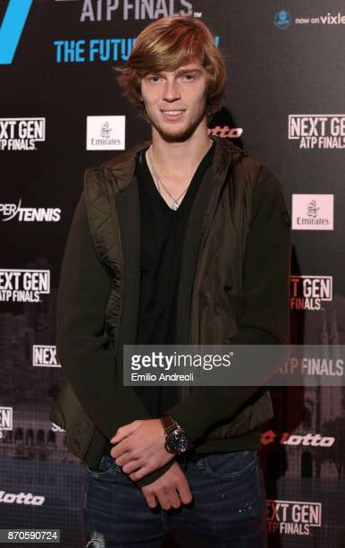 Andrey Rublev of Russia attends the NextGen ATP Finals Launch Party on November 5 2017 in Milan Italy