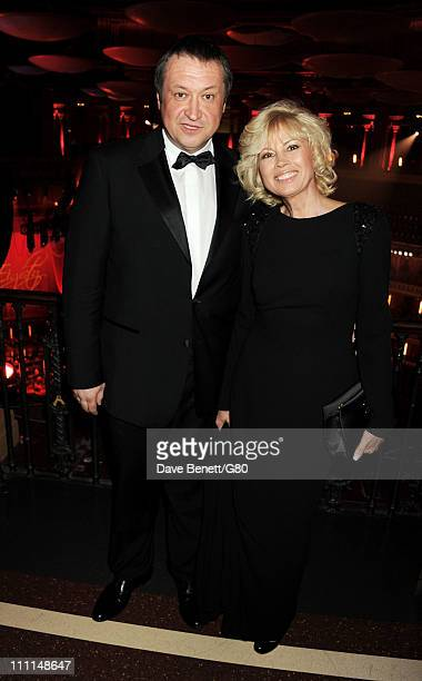 Andrey Trukhachev and Irina Virganskaya attend the Gorby 80 Gala at the Royal Albert Hall on March 30 2011 in London England The concert is to...