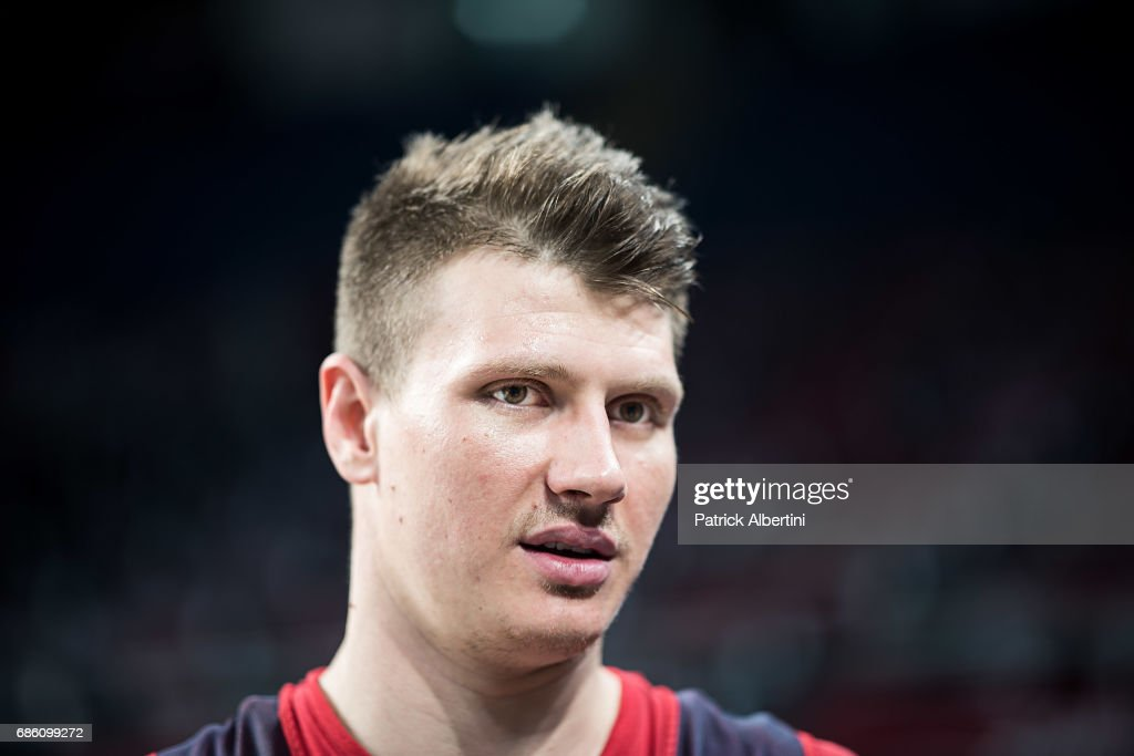 Andrey Vorontsevich, #20 of CSKA Moscow during the 2017 Turkish Airlines EuroLeague Final Four CSKA Moscow Practice at Sinan Erdem Dome on May 20, 2017 in Istanbul, Turkey.