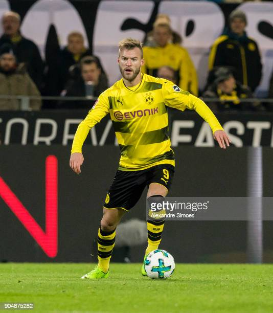Andrey Yarmolenko of Borussia Dortmund in action during the Bundesliga match between Borussia Dortmund and VfL Wolfsburg at the Signal Iduna Park on...