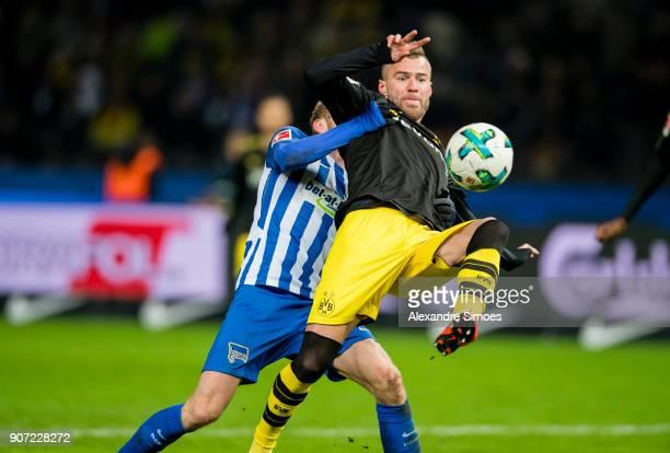 Andrey Yarmolenko of Borussia Dortmund in action during the Bundesliga match between Hertha BSC and Borussia Dortmund at the Olympiastadion on...