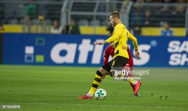 Andrey Yarmolenko of Borussia Dortmund in action during the Bundesliga match between Borussia Dortmund and SportClub Freiburg at the Signal Iduna...