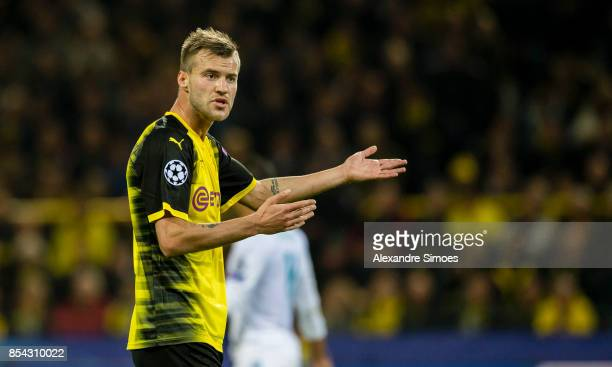 Andrey Yarmolenko of Borussia Dortmund in action during the UEFA Champions League First Qualifying Round 1st Leg match between Borussia Dortmund and...