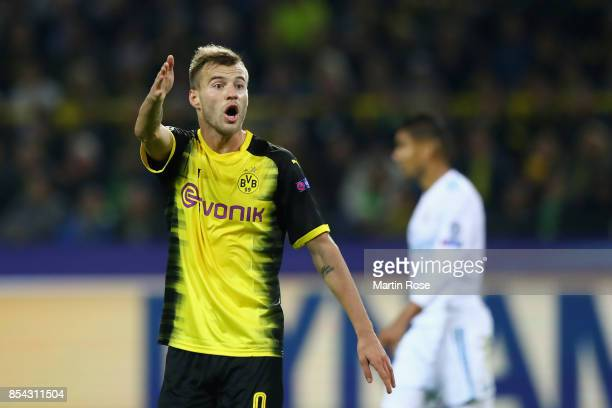 Andrey Yarmolenko of Borussia Dortmund reacts during the UEFA Champions League group H match between Borussia Dortmund and Real Madrid at Signal...
