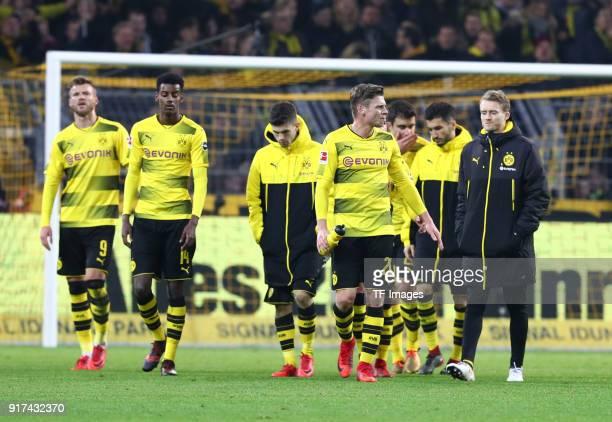 Andrey Yarmolenko of Dortmund Alexander Isak of Dortmund Christian Pulisic of Dortmund Lukasz Piszczek of Dortmund Sokratis Papastathopoulos of...