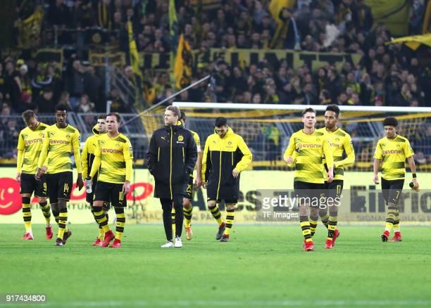 Andrey Yarmolenko of Dortmund Alexander Isak of Dortmund Christian Pulisic of Dortmund Mario Goetze of Dortmund Andre Schuerrle of Dortmund Nuri...