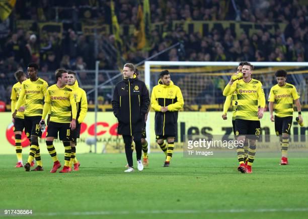 Andrey Yarmolenko of Dortmund Alexander Isak of Dortmund Mario Goetze of Dortmund Christian Pulisic of Dortmund Andre Schuerrle of Dortmund Nuri...