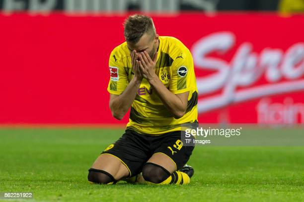 Andrey Yarmolenko of Dortmund am boden gestures during the Bundesliga match between Borussia Dortmund and RB Leipzig at Signal Iduna Park on October...