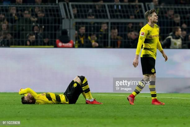 Andrey Yarmolenko of Dortmund and Lukasz Piszczek of Dortmund looks dejected during the Bundesliga match between Borussia Dortmund and SportClub...