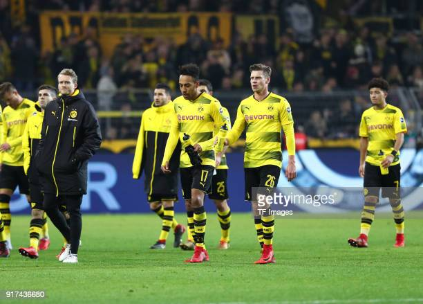 Andrey Yarmolenko of Dortmund Christian Pulisic of Dortmund Andre Schuerrle of Dortmund Nuri Sahin of Dortmund PierreEmerick Aubameyang of Dortmund...