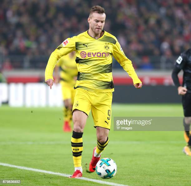 Andrey Yarmolenko of Dortmund controls the ball during the Bundesliga match between VfB Stuttgart and Borussia Dortmund at MercedesBenz Arena on...