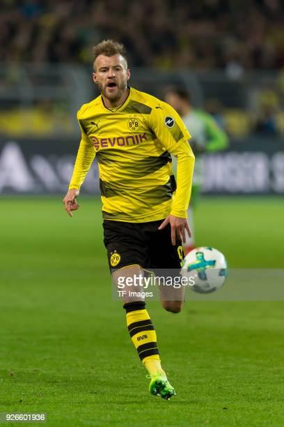 Andrey Yarmolenko of Dortmund controls the ball during the Bundesliga match between Borussia Dortmund and VfL Wolfsburg at Signal Iduna Park on...