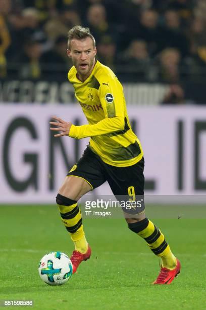 Andrey Yarmolenko of Dortmund controls the ball n during the Bundesliga match between Borussia Dortmund and FC Schalke 04 at Signal Iduna Park on...