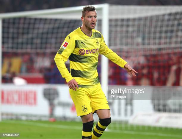 Andrey Yarmolenko of Dortmund gestures during the Bundesliga match between VfB Stuttgart and Borussia Dortmund at MercedesBenz Arena on November 11...