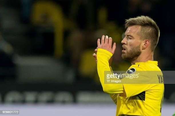Andrey Yarmolenko of Dortmund gestures during the Bundesliga match between Borussia Dortmund and VfL Wolfsburg at Signal Iduna Park on January 14...