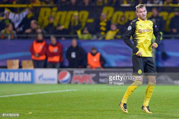 Andrey Yarmolenko of Dortmund in action during the UEFA Champions League Group H soccer match between Borussia Dortmund and APOEL Nicosia at...