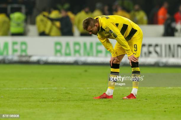 Andrey Yarmolenko of Dortmund looks dejected during the Bundesliga match between VfB Stuttgart and Borussia Dortmund at MercedesBenz Arena on...