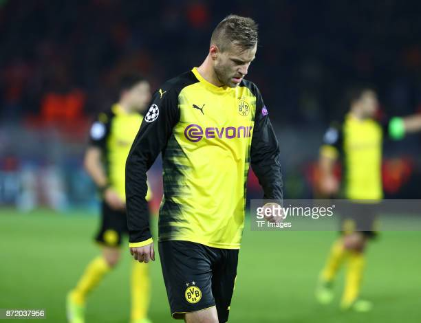 Andrey Yarmolenko of Dortmund looks dejected during the UEFA Champions League Group H soccer match between Borussia Dortmund and APOEL Nicosia at...