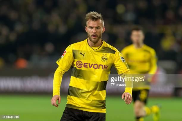 Andrey Yarmolenko of Dortmund looks on during the Bundesliga match between Borussia Dortmund and VfL Wolfsburg at Signal Iduna Park on January 14...