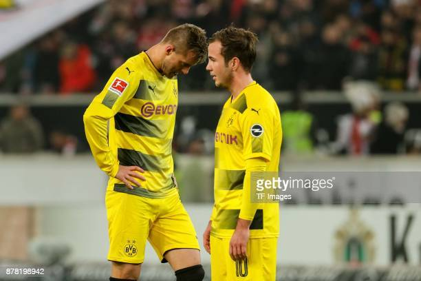 Andrey Yarmolenko of Dortmund Mario Goetze of Dortmund looks dejected during the Bundesliga match between VfB Stuttgart and Borussia Dortmund at...