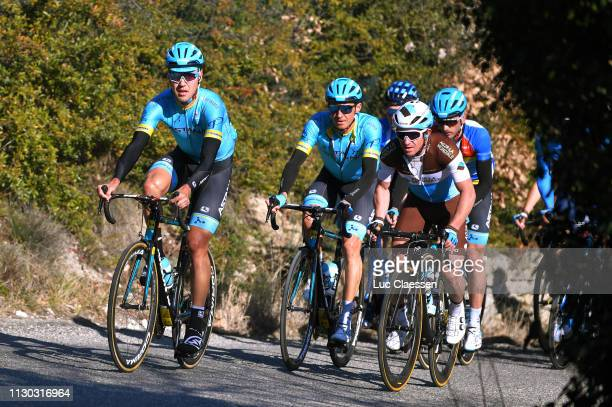 Andrey Zeits of Kazahkstan and Astana Pro Team / Daniil Fominykh of Kazahkstan and Astana Pro Team / Samuel Dumoulin of France and Team AG2R La...