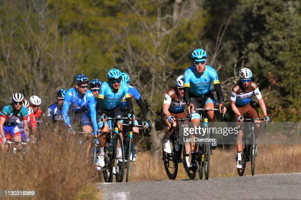 Andrey Zeits of Kazahkstan and Astana Pro Team / Daniil Fominykh of Kazahkstan and Astana Pro Team / Michael Cherel of France and Team AG2R La...