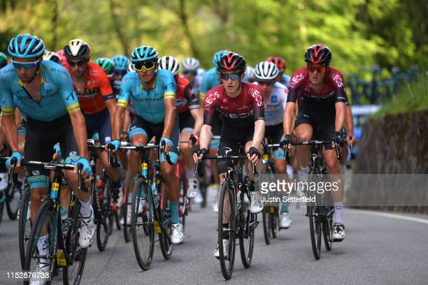 Andrey Zeits of Kazahkstan and Astana Pro Team / Eddie Dunbar of Ireland and Team INEOS / Pavel Sivakov of Russia and Team INEOS / during the 102nd...