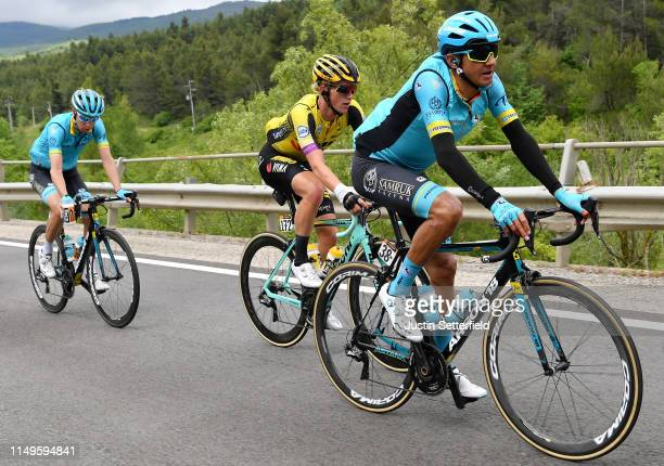 Andrey Zeits of Kazahkstan and Astana Pro Team / Koen Bouwman of The Netherlands and Team Jumbo - Visma / Jan Hirt of Czech Republic and Astana Pro...