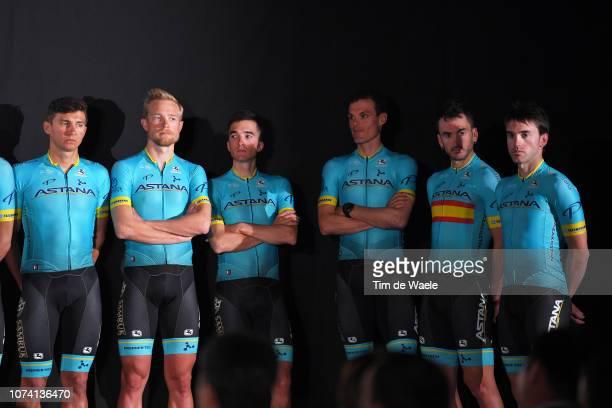 Andrey Zeits of Kazakhstan and Astana Pro Team / Jonas Gregaard Wilsly of Denmark and Astana Pro Team / Pello Bilbao Lopez De Armentia of Spain and...