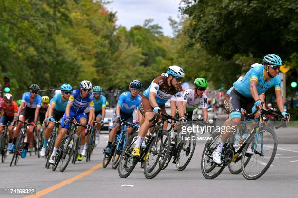 Andrey Zeits of Kazakhstan and Astana Pro Team / Tom-Jelte Slagter of The Netherlands and Team Dimension Data / Alexis Gougeard of France and Team...