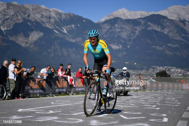 Andrey Zeits of Kazakhstan / during the Men Elite Road Race a 2585km race from Kufstein to Innsbruck 582m at the 91st UCI Road World Championships...