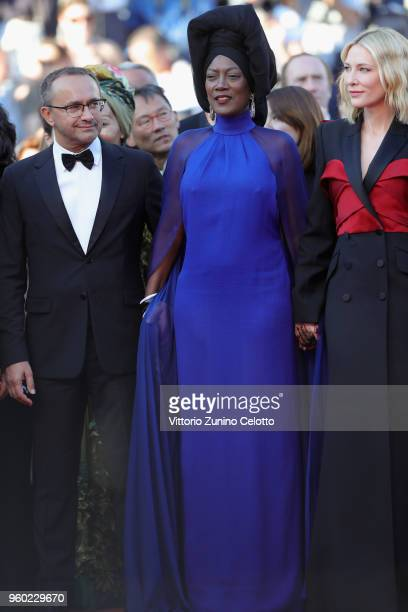 Andrey Zvyagintsev Khadja Nin and Cate Blanchett attend the screening of 'The Man Who Killed Don Quixote' and the Closing Ceremony during the 71st...