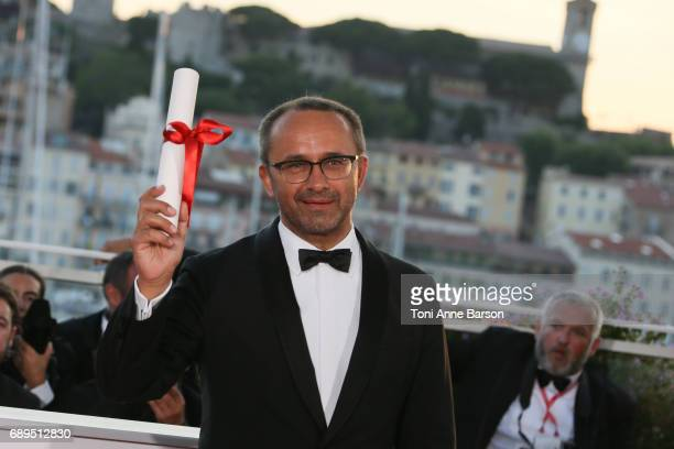 Andrey Zvyagintsev who won the Prix Du Jury for the movie 'Loveless' attends the winners photocall during the 70th annual Cannes Film Festival at...
