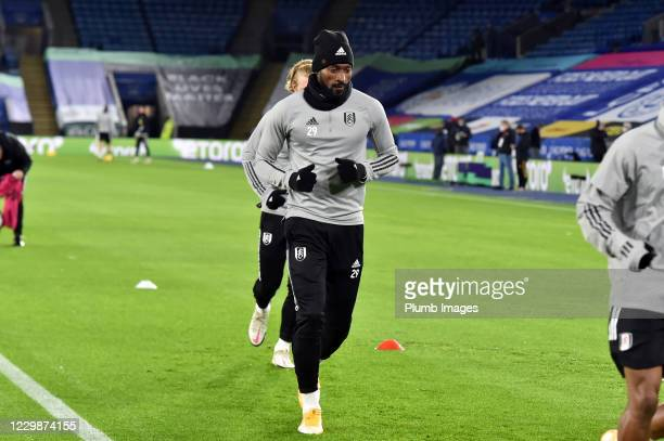 André-Frank Zambo Anguissa of Fulham before the Premier League match between Leicester City and Fulham at The King Power Stadium on November 30, 2020...