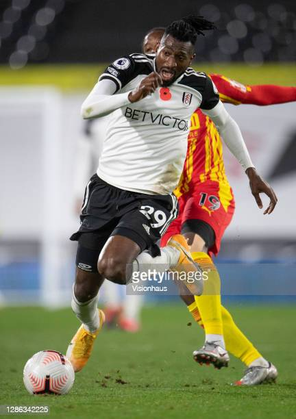 André-Frank Zambo Anguissa of Fulham during the Premier League match between Fulham and West Bromwich Albion at Craven Cottage on November 02, 2020...