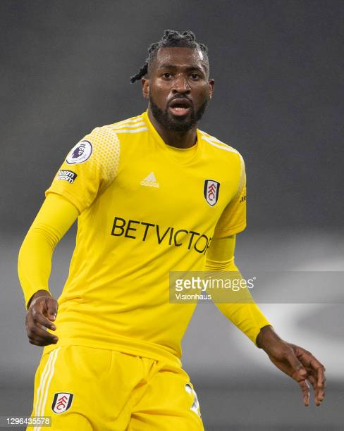 André-Frank Zambo Anguissa of Fulham during the Premier League match between Tottenham Hotspur and Fulham at Tottenham Hotspur Stadium on January 13,...
