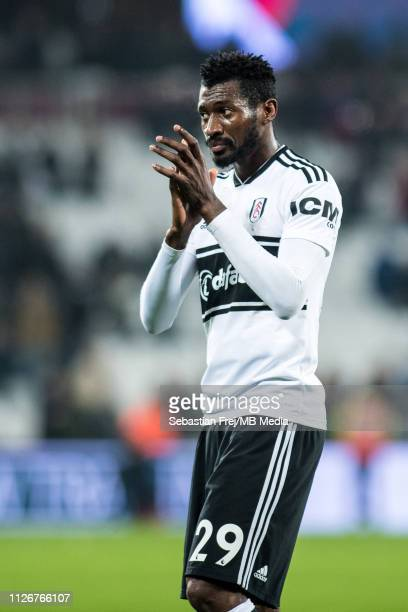 AndréFrank Zambo Anguissa of Fulham FC during the Premier League match between West Ham United and Fulham FC at London Stadium on February 22 2019 in...