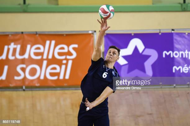 Andri Aganits of Montpellier during the Volleyball friendly match on September 22 2017 in Montpellier France