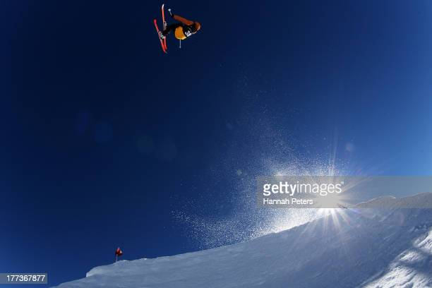 Andri Ragettle of Switzerland competes in the FIS Freestyle Ski Slopestyle World Cup Qualifying during day nine of the Winter Games NZ at Cardrona...