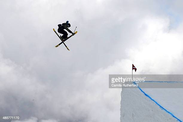 Andri Ragettli of Switzerland competes in the Snowboard AFP Freeski Big Air Finals during the Winter Games NZ at Cardrona Alpine Resort on August 30...