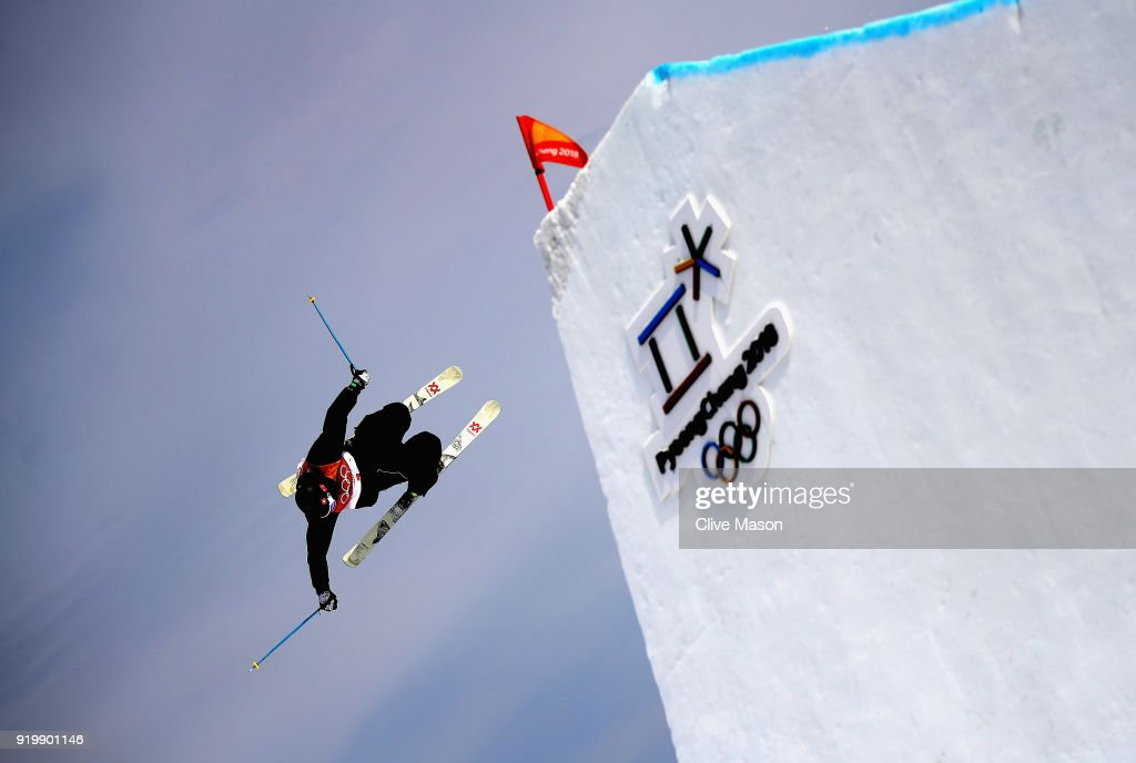 Andri Ragettli of Switzerland in action during the Freestyle Skiing Men's slopestyle Aerial final on day nine of the PyeongChang 2018 Winter Olympic Games at Phoenix Snow Park on February 18, 2018 in Pyeongchang-gun, South Korea.