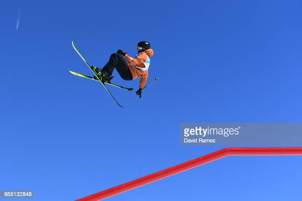Andri Ragletti of Switzerland competes in the Men's Slopestyle final during day twelve of the FIS Freestyle Ski Snowboard World Championships 2017 on...