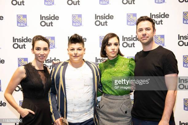 "Andria Wilson, Ser Anzoategui, Mishel Prada and Andrew Murphy attend 2019 Inside Out LGBT Film Festival - Screening Of ""Vida"" at TIFF Bell Lightbox..."